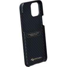 Чехол Pitaka для iPhone 12/12 Pro, кевлар, черно-серый