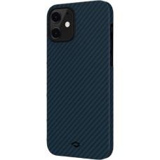 Чехол Pitaka для iPhone 12/12 Pro, кевлар, сине-черный