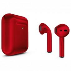 Цветные AirPods 2 Red Gloss