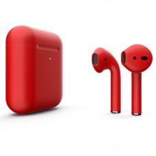 Цветные AirPods 2 Red Matte
