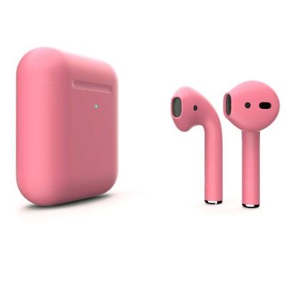 Цветные AirPods 2 Pink Matte