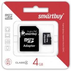 Карта памяти SmartBuy MicroSD 4Гб