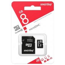 Карта памяти Smartbuy MicroSD 8Гб
