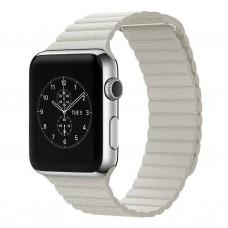 Ремешок Apple Leather Loop White 44mm (no box)