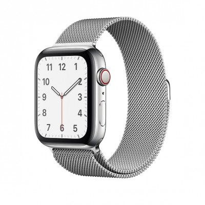 Ремешок Apple Milanese Loop Silver 44mm