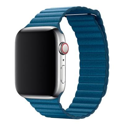 Ремешок Apple Leather Loop Blue 44mm